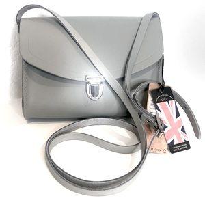👛 Cambridge Satchel Gray Crossbody Handbag